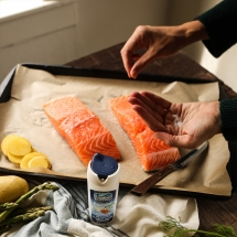 low salt salmon parchment