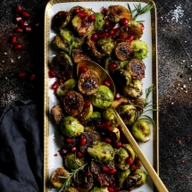Pan Seared Balsamic Glazed Brussels Sprouts recipe by le Saunier de camargue