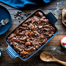 Salted Chocolate Bread Pudding Recipe by La Baleine