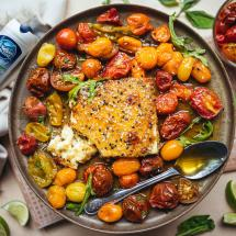 Pan-Fried Feta with Herb Honey Recipe